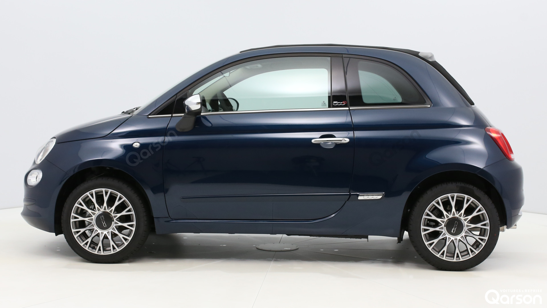 Vue profile gauche Fiat 500C