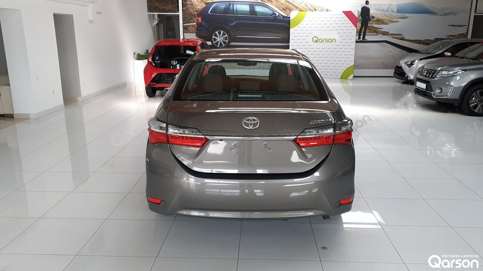Vue arrière Toyota Corolla