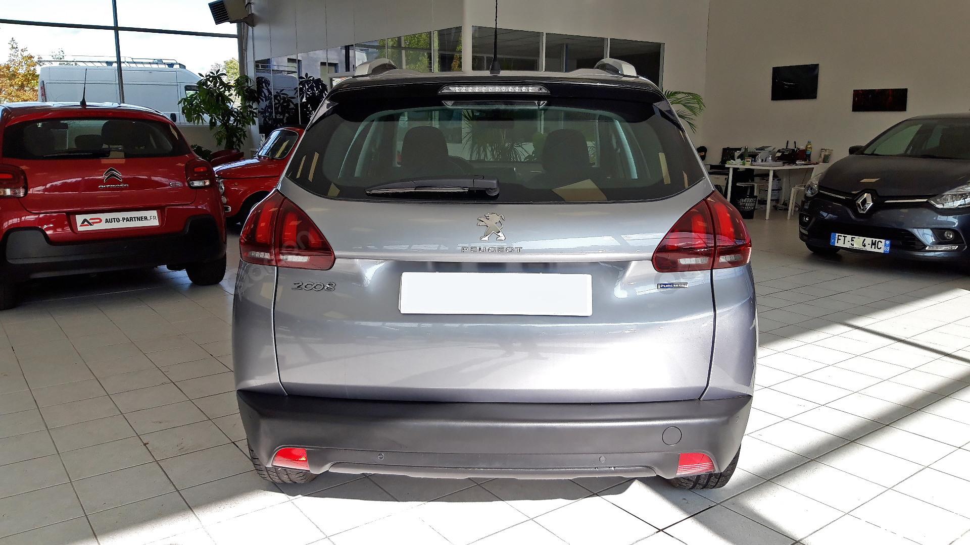 Vue arrière Peugeot 2008