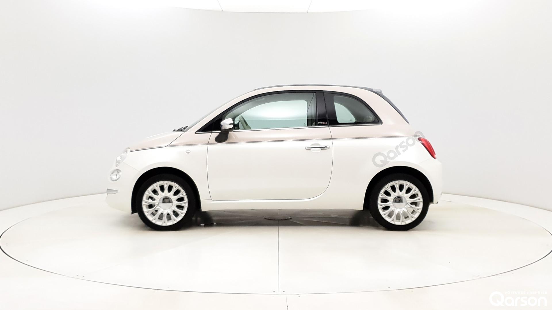 Vue profile gauche Fiat 500 CABRIO