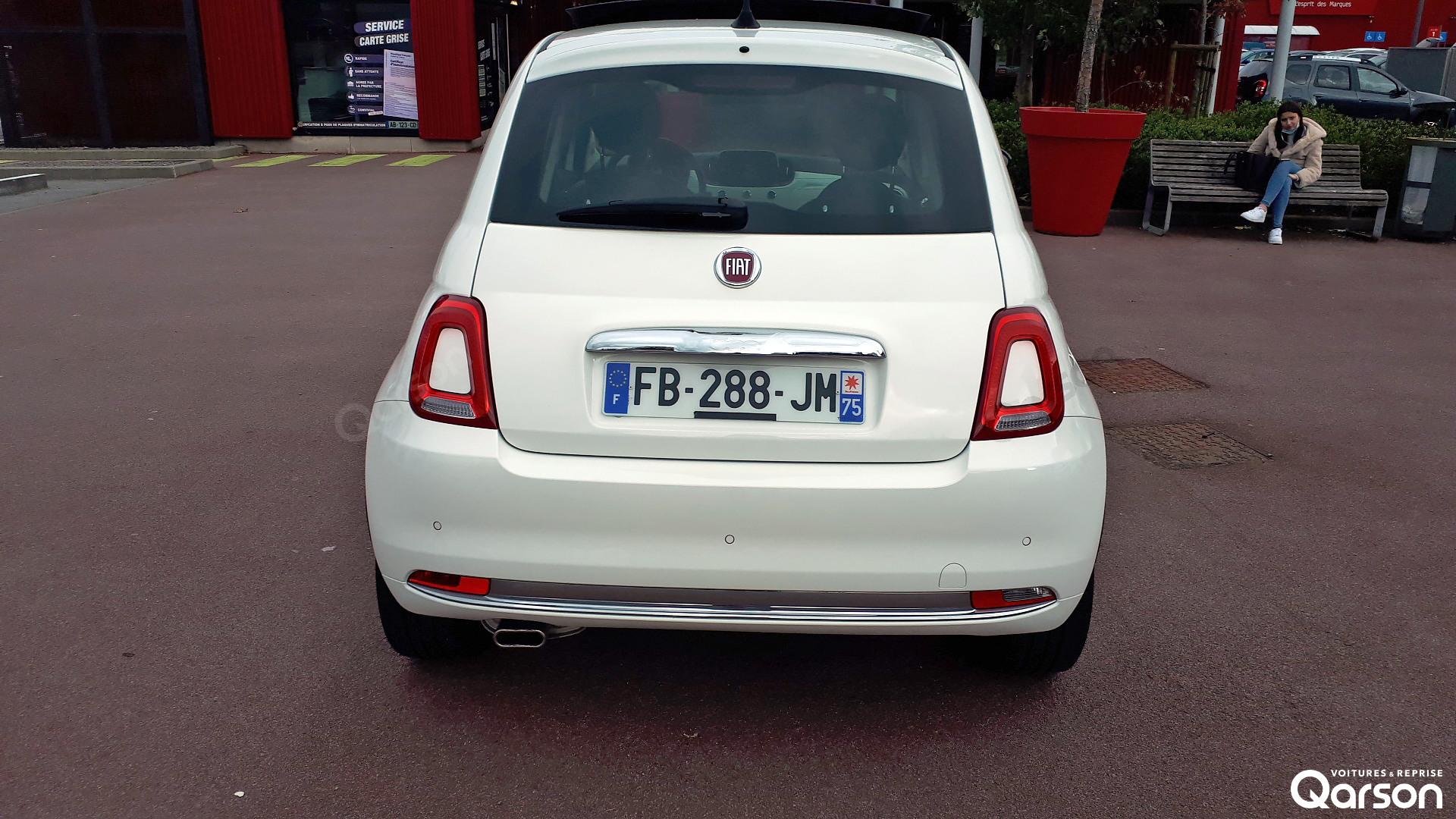 Vue arrière Fiat 500 3P