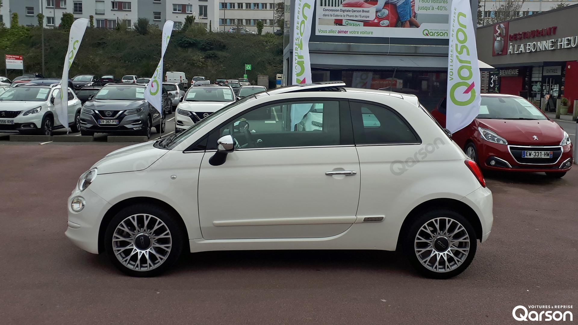 Vue profile gauche Fiat 500 3P