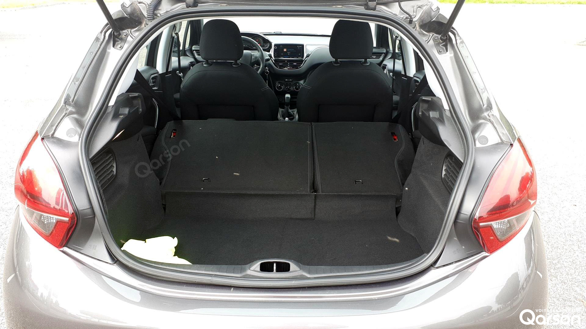 Volume du coffre avec les sièges rabattus